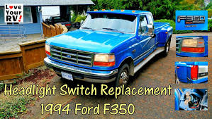 replacing our ford trucks intermittent headlight switch youtube