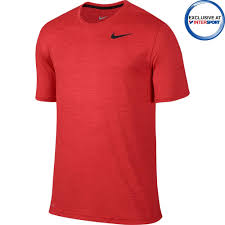 intersport nike men u0027s dri fit red training t shirts intersport uk