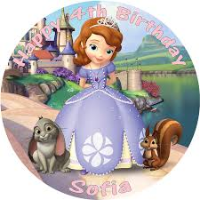 sofia the cake topper princess sofia the edible printed cake topper decoration
