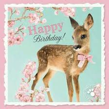 happy birthday wishes with deer