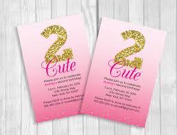 weddings by susan custom printable 2 cute u0027s 2nd birthday
