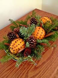 pomanders oranges studded with whole cloves balsam sprigs