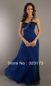 one shoulder navy blue prom dress best dressed