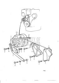 volvo penta exploded view schematic alternator and installation