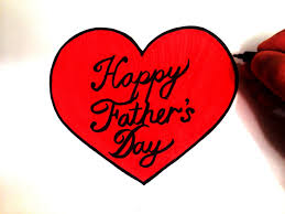 how to draw a happy father u0027s day heart easy for beginners youtube