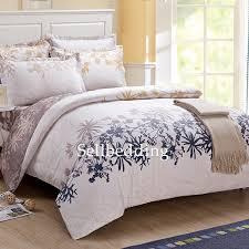 Flannel Duvet Covers White And Leaf Patterned Unique Designer Elegant Flannel Duvet