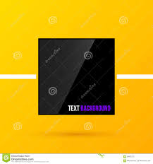 black square text frame on bright yellow background in modern