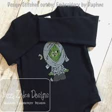 kid mummy sketch embroidery design mummy embroidery design