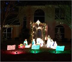 outdoor nativity christmas lighted outdoor nativity silhouette decor best of 351