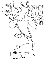 pikachu and squirtle coloring pages