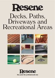 new resene decks paths driveways and recreational areas chart
