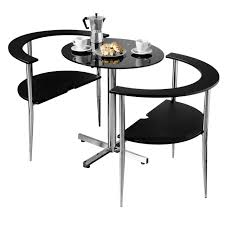 small dining table for 2 3pc round love dining set black tempered glass table top 2 chairs