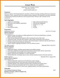 7 engineer resume summary precis format