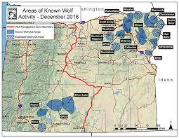 map of oregon i 5 odfw gray wolf population