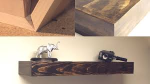 diy seamless rustic floating shelves youtube