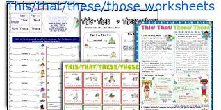 english teaching worksheets this that these those