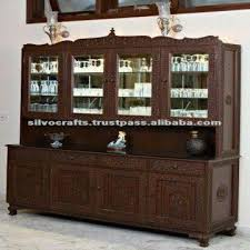 hand carved buffet cabinet with china hutch carved furniture from