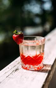 pink cocktail strawberry basil pink peppercorn negroni earthy feast