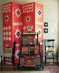 Red Damask Wallpaper Home Decor Red Rooms Martha Stewart