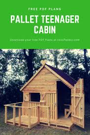 Plans For Garden Sheds by Pallet Cabin U0026 Clubhouse Build Your Own 19 Pallets Teenager Cabin