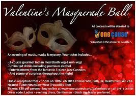 valentine u0027s masquerade ball one cause