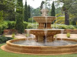 garden rock fountain decor references