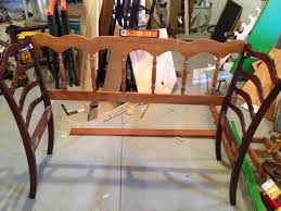 Bench From Headboard Thrifty Treasures Chair And Headboard Bench