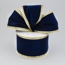 navy blue wired ribbon 2 5 velvet wired key edge ribbon navy blue 10 yards zxm