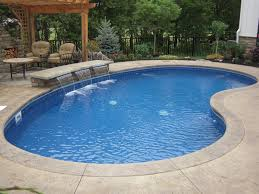 extraordinary concrete coping swimming pool with vinyl liner