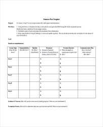 printable business action plan template example with purpose and
