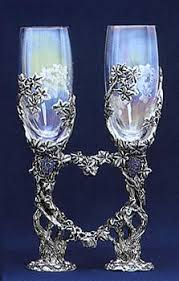 wedding goblets vine wedding glasses