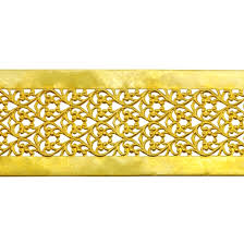 patterned wire brass floral ribbon 22 6 inches cool