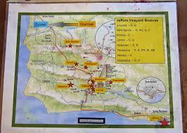 Santa Barbara Map Celebrating The Harvest In Santa Barbara Wine Life In The Scv