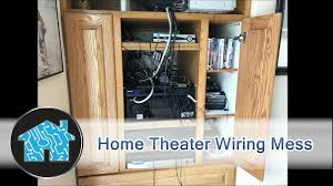 home theater wiring home theater wiring mess youtube