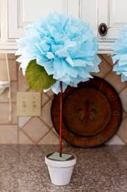 diy tissue paper topiary great for decorating down the aisle next
