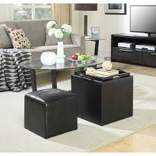 storage ottomans with serving trays on sale bellacor com