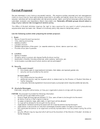 proposal formal business proposal template