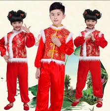 costume new year 2016 costume for kids traditional dress girl national style