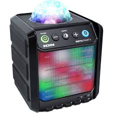 ion bluetooth speaker with lights ion audio insta party compact rechargeable insta party b h