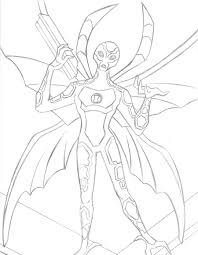 big chill ben 10 coloring pages coloring pages ages