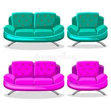 Cartoon Armchair Cartoon Colorful Armchair And Sofa Set 9 Stock Vector Image