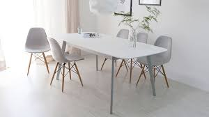 modern grey dining table aver grey white extending dining table and eames chairs