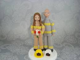 firefighter wedding cake inspirations fireman cake toppers for wedding cakes with custom
