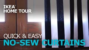 Easy No Sew Curtains Quick U0026 Easy Diy No Sew Curtains Ikea Home Tour Youtube