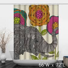 the thai elephant bathroom shower curtain custom shower curtain