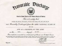 honorable discharge certificate lelands