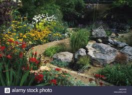 Rock Garden Beds Feng Shui Garden Design Woods Serpentine Path And Flower