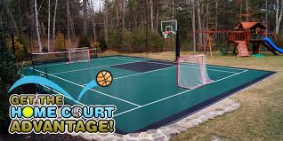 Backyard Sports Court by Game On Sport Surfaces Llc Get The Home Court Advantage