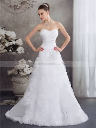wedding dresses in glasgow strapless princess cut satin and organza wedding dress