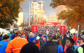 walking to retirement number 52 atlanta thanksgiving day half
